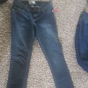 Ladies - Blue Skinny Regular Ankle Jeans- Size 7